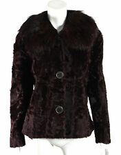 DOLCE & GABBANA $16,225 NWT Purple Xiangao Lamb & Silver Fox Fur Coat 46