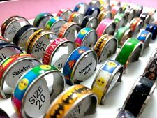 50 mix of women's  Stainless Steel fashion  Rings lots wholesale