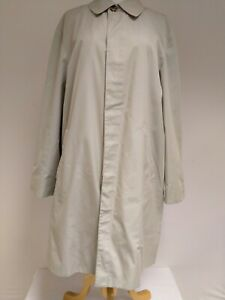 """Aquascutum Men's Classic Single Breasted Beige Trench Coat 46"""" Chest SOME DAMAGE"""