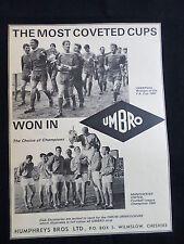Manchester United & Liverpool -1 pagina pubblicità per UMBRO-Ritaglio / TAGLIO