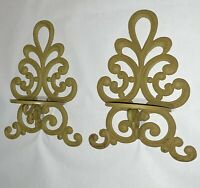 Antique Cast Iron Wall Hanging Sconce Candle Lamp Shelf Vintage