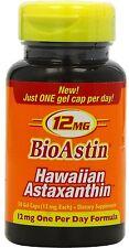 BioAstin,  50 Gel.-Kapseln à 12 mg Astaxanthin  ORIGINAL AUS HAWAII