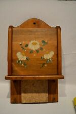 Vintage Wooden Mail Letter Key Organizer Holder Wall Mount Country Kitchen