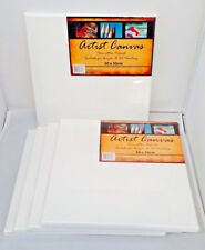 5 x Artist Canvas 30 x 30cm Blank White oil & acrylic painting/Paint Wholesale