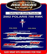 2002 POLARIS RMK 700 HOOD DECALS  graphics  reproductions