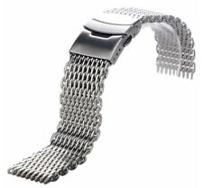 MILANESA 20mm SHARK MESH Correa Acero InoxIdable Stainless steel Band MIlanese