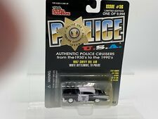Police Die Cast NOC 1998 Racing Champions#56 1957 Chevy Bel-Air White Settlement