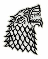 STARK SIGIL Iron on / Sew on Patch Game of Thrones Wolf Embroidered Badge PT47