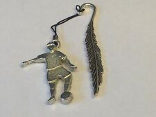 Football Control GT5 Fine English Pewter On A FEATHER Bookmark