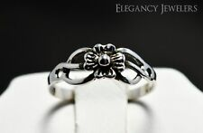 Adjustable .925 Sterling Silver Small Flower Toe Ring
