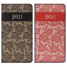 2021 semaine pour afficher Journal Slim Rembourré Noir Ou Rouge Roses Planner dates Organisateur