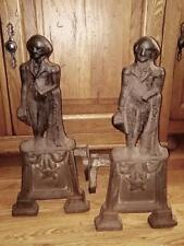 Antique AUTHENTIC 19th Century GEORGE WASHINGTON ANDIRONS FIRE PLACE or F P DOGS