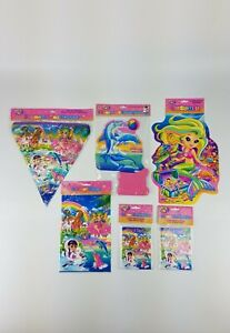 New Lisa Frank Party Supplies Favors Lot Of 24 pc Invitations Banner Centerpiece