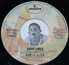 "Rap 45~KURTIS BLOW~Hard Times / Takin' Care Of Business~Mercury 7"""