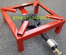 FORNELLONE FORNELLO A GAS 4 PIEDI 30x30CM - BRUCIATORE IN GHISA
