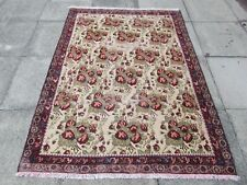 Shabby Chic Worn Vintage Hand Made Traditional Pink Wool Large Rug 191x160cm