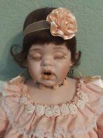 Fayzah Spanos Peeche Cream. Rare 1993. Porcelain Doll. Signed. C.O.A. EUC.