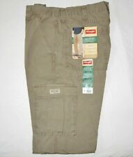 Mens Wrangler Rip-Stop Cargo Pants ALL SIZES 34-44 Relaxed Fit Tech Pocket Khaki