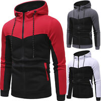 Winter Men's Zipper  Up Hoodie Hooded Sweatshirt Jacket Jumper Coat Tops Outwear