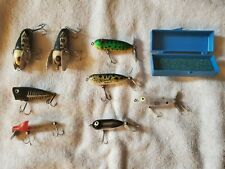 Lot of Heddon Lures x 8 _ Chugger Jr., Floating Runt,Tiny Torpedo, Crazy Crawler