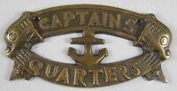 CAPTAINS QUARTERS Sign Nautical Plaque Ship Boat Captain Signs Wall Decor