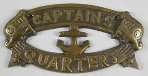 CAPTAINS QUARTERS Sign Nautical Plaque Ship Boat Captain Signs Wall Decor