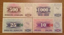 4 X Bosnia And Herzegovina Banknote Set.