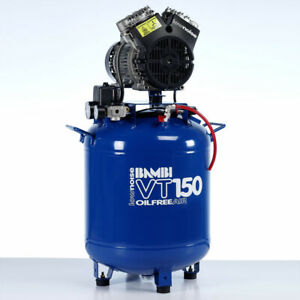 Bambi VT150 Compressor - Ultra Low Noise - Oil Free (50 Litres, 1.5 HP)
