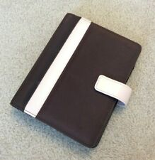 Compact 1 Franklin Covey 365 Pink Leather Brown Nylon Snap Planner Binder Xtras
