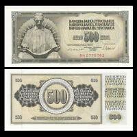 Yugoslavia 500 Dinara, 1978/1981, P-91, UNC, Banknotes, Original