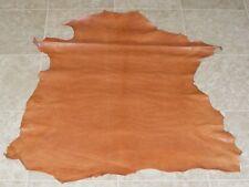 (RGE8264) Hide of Orange Brown Printed Lambskin Leather Hide Skin