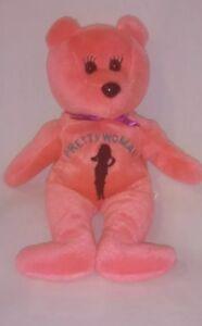 "Pretty Women Celebrity Bears Bean Plush Valentine Pink Stuffed Animal 8"" Gift"
