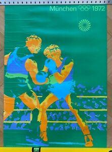 Plakat / Poster Olympische Spiele München 1972 Otl Aicher DIN A1 Boxen