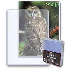 25 Bcw 5 x 7 Postcard / Photo Rigid Hard Plastic Topload Holders 5x7