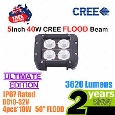 5inch 40W CREE LED Light Bar High Output Ultimate Edition Double Row FLOOD Beam