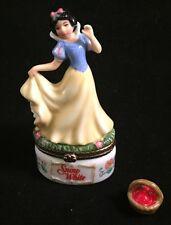"PHB Collection Snow White Disney Treasure Box Apple Charm 3.75"" Tall"