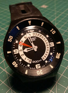 Swatch Scuba Black and White
