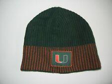 Nike MIAMI HURRICANES THE U Football COLLEGE BEANIE Warm Winter Florida Hat Cap