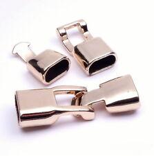Knebelverschluss ROSEGOLD Verschluss 35x12mm für Lederband Kettenverschluss