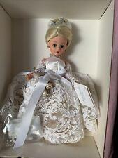 "Madame Alexander 22540 Doll 10"" White Iris Flower Gown Collection 1998 Coa"