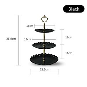 Three Layer Cake Stand Plate Fruit Dessert Party Holder Display Snack Wedding