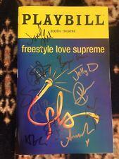 Freestyle Love Supreme Cast Signed Broadway Playbill Miranda,Jackson,Veneziale