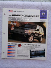 1998 Jeep Grand Cherokee Limited LX brochure / specification sheet