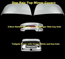 For 15 16 Chevy Colorado GMC Canyon Chrome Mirror 2 Door Handle K Tailgate Cover