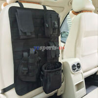 Tactical Molle Car Seat Back Cover Protector Organizer Storage Pouch Fit All Car