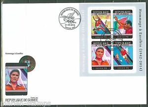 GUINEA 2014 CELEBRATING SOCCER SHEET FIRST DAY COVER