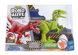 Zuru Robo Alive Raptor laufender Raptor mit Dino-Ei robotik-Haustier Grün 0666