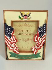 Patriotic God Bless America 3D Relief USA Flag Picture Frame