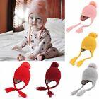 Toddler Kids Baby Boy Girl Fur Pom Hat Winter Warm Knit Bobble Beanie Cap Hat
