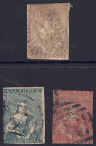 VICTORIA - QUEEN VICTORIA SELECTION OF USED STAMPS (2 SCANS) HCV